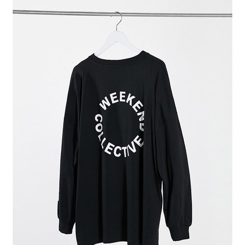 ASOS - Weekend Collective Curve - T-shirt oversize avec logo au dos - Noir - ASOS Weekend Collective - Modalova