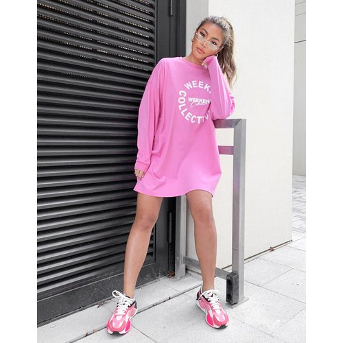 Robe t-shirt oversize à manches longues avec logo Weekend Collective - ASOS Weekend Collective - Modalova