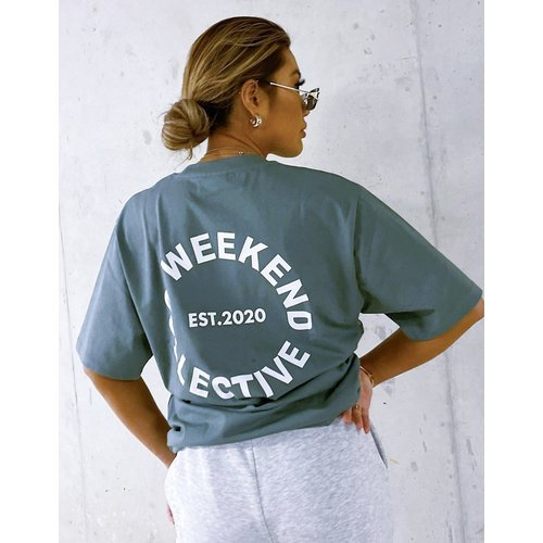 ASOS - Weekend Collective - T-shirt oversize avec logo - Kaki - ASOS Weekend Collective - Modalova
