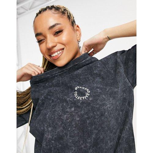 ASOS - Weekend Collective - T-shirt oversize d'ensemble avec logo imprimé brillant - Anthracite - ASOS Weekend Collective - Modalova