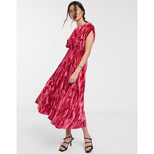 Robe mi-longue en velours avec taille à coutures apparentes - ASOS WHITE - Modalova