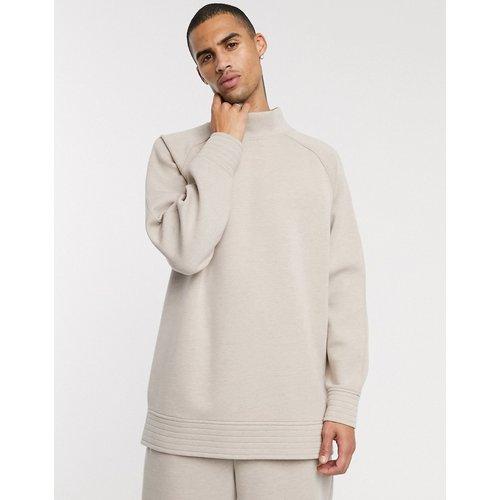 Sweat-shirt en jersey épais non tissé à manches raglan - ASOS WHITE - Modalova