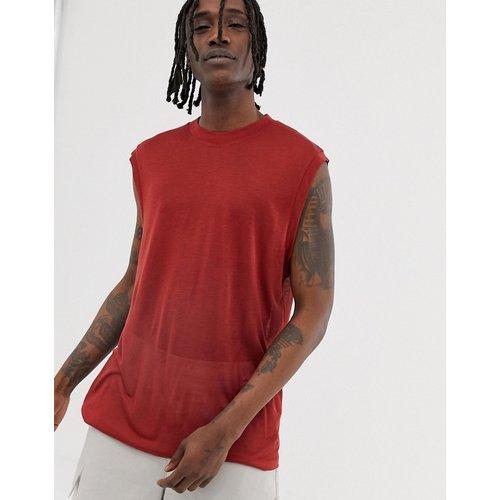 T-shirt sans manches coupe ample en tissu fluide - foncé - ASOS WHITE - Modalova