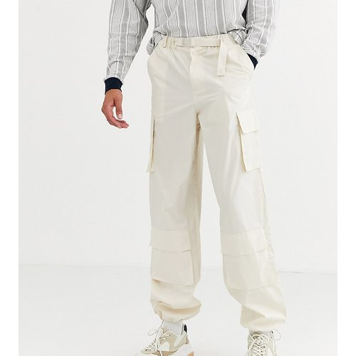 Tall - Pantalon cargo large - ASOS WHITE - Modalova