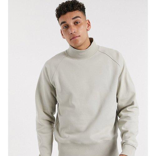 Tall - Sweat-shirt oversize en jersey épais à larges bords-côtes - Beige - ASOS WHITE - Modalova