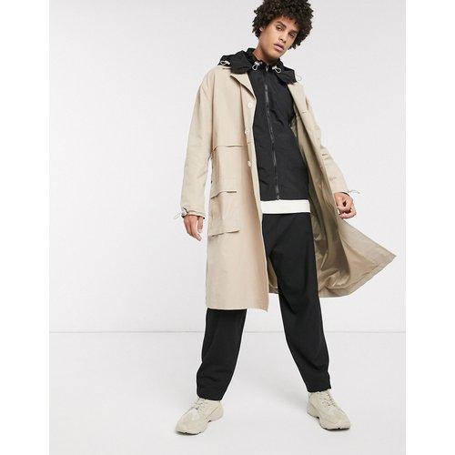 Trench-coat avec gilet à capuche amovible en nylon - ASOS WHITE - Modalova