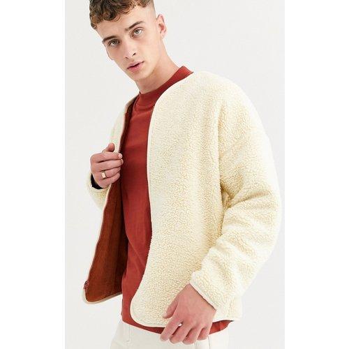 Veste réversible doublée - Velours côtelé rouille ou imitation peau de mouton écru - ASOS WHITE - Modalova