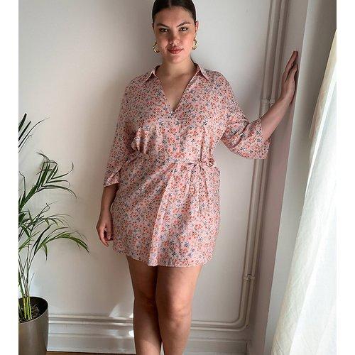 Robe chemise à imprimé petites fleurs - AX Paris Plus - Modalova
