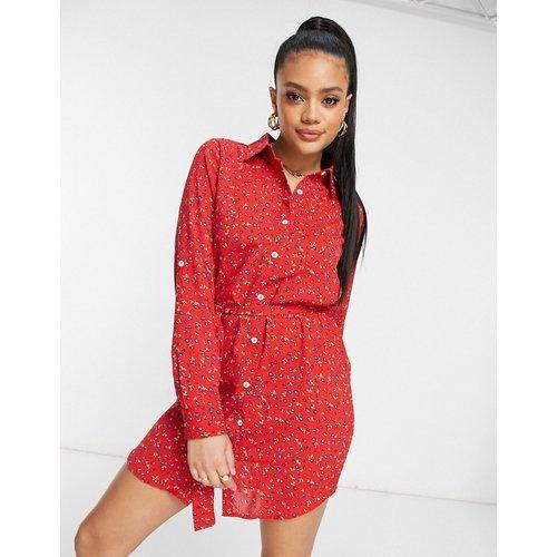 Robe chemise courte à imprimé floral - AX Paris - Modalova