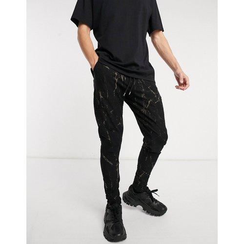 Pantalon effet marbré - Azat Mard - Modalova