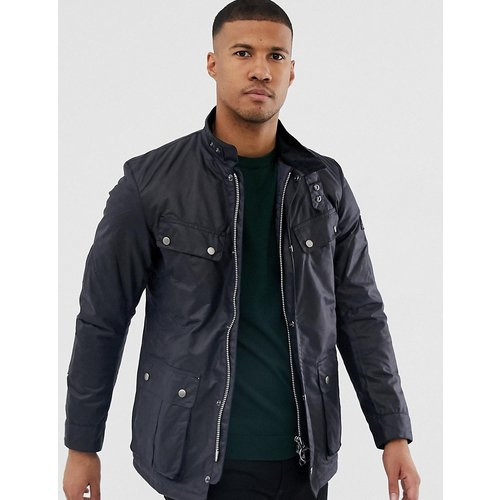 Duke - Veste cirée ajustée - Bleu marine - Barbour International - Modalova