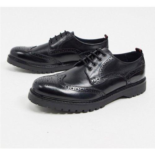 Riddle - Chaussures richelieu en cuir - Base London - Modalova