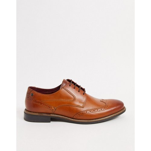 Risco - Chaussures richelieu en cuir - Fauve - Base London - Modalova