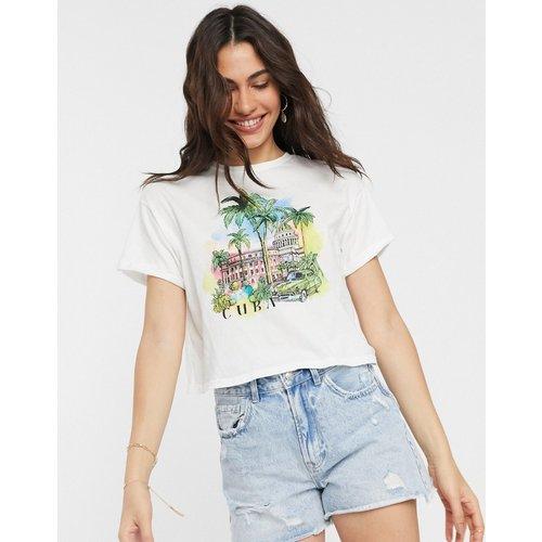 Bershka- Cuba - T-shirt - Blanc - Bershka - Modalova