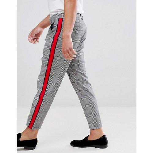 Pantalon à carreaux avec bande latérale - Bershka - Modalova
