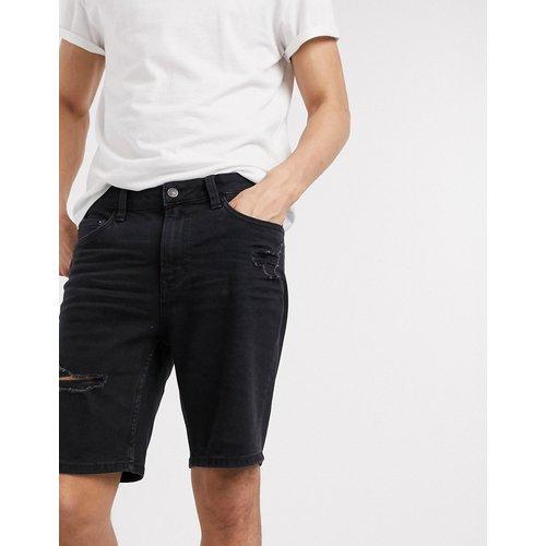 Short en jean déchiré coupe skinny - Bershka - Modalova