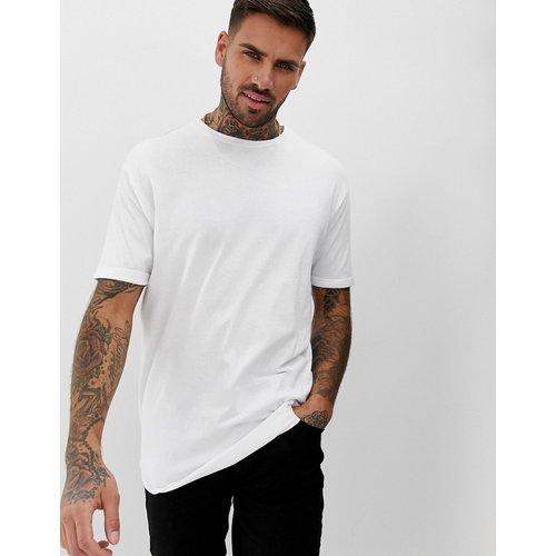 Bershka - T-shirt long - Blanc - Bershka - Modalova