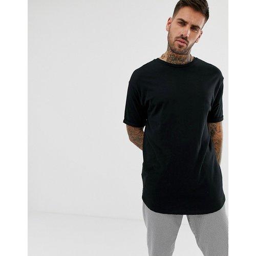 Bershka - T-shirt long - Noir - Bershka - Modalova