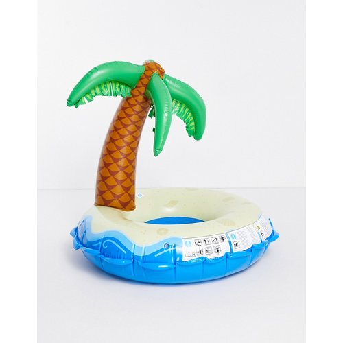 Bouée gonflable en forme d'île avec palmier - Big Mouth - Modalova