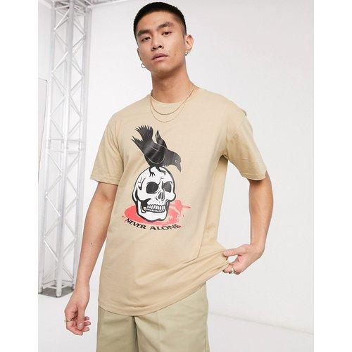 T-shirt imprimé - Taupe - Blood Brother - Modalova