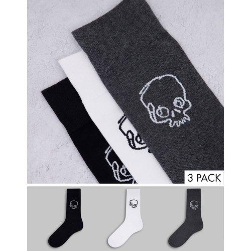 Bolongaro Trevor - Lot de 3 paires de chaussettes à esquisse tête de mort - Bolongaro Trevor Sport - Modalova