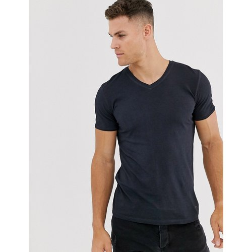 T-shirt col V - Bleu marine - Boss - Modalova