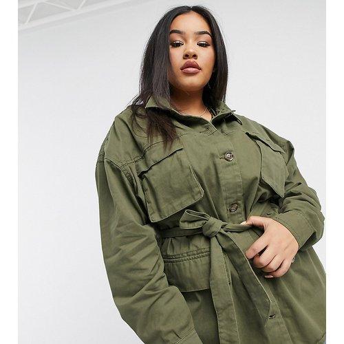 Aiko - Veste chemise style militaire - Brave Soul Plus - Modalova