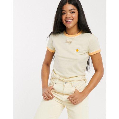 T-shirt motif marguerite à bordures contrastantes - Pastel - Brave Soul - Modalova