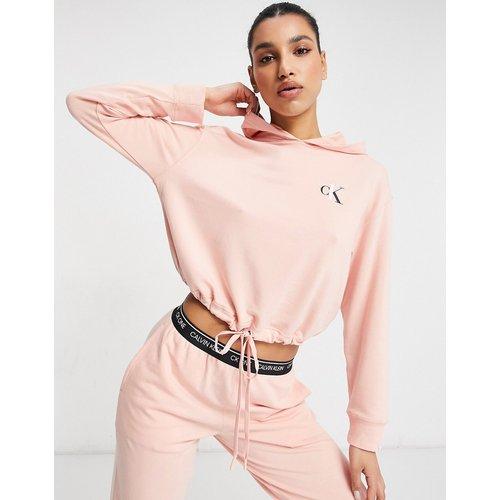 CK One - Hoodie confort à logo et cordon de serrage à l'ourlet - Calvin Klein - Modalova