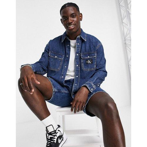 Chemise oversize en denim - Délavage moyen - Calvin Klein Jeans - Modalova
