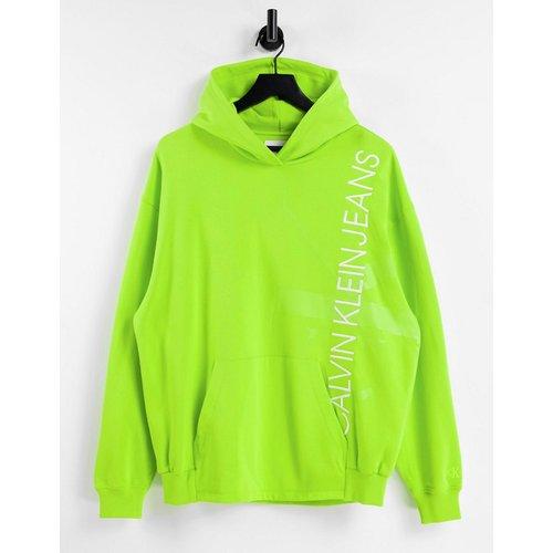 Hoodie avec logo monogramme vertical - citron - Calvin Klein Jeans - Modalova