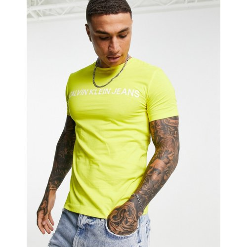 Institutional - T-shirt ajusté à logo - Calvin Klein Jeans - Modalova