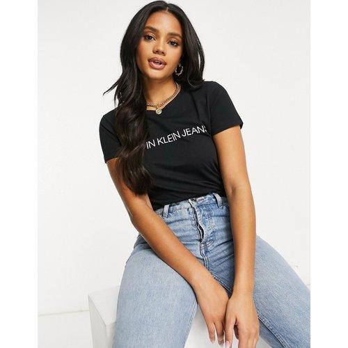 Institutional - T-shirt slim à logo - Calvin Klein Jeans - Modalova