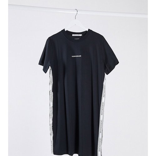 Robe t-shirt avec bandes contrastantes - Calvin Klein Jeans Plus - Modalova