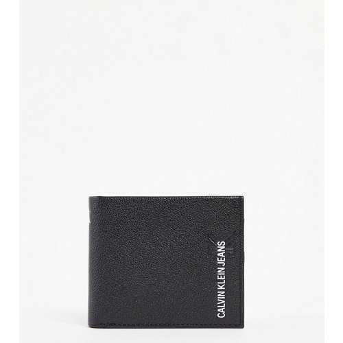 Portefeuille à deux volets en cuir avec logo - Calvin Klein Jeans - Modalova