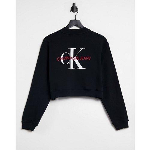 Sweat-shirt court à logo monogramme - Calvin Klein Jeans - Modalova
