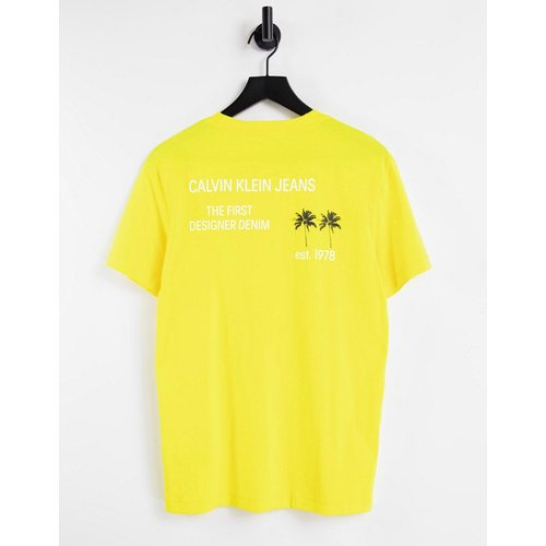 T-shirt à imprimé palmiers - Calvin Klein Jeans - Modalova