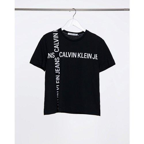 T-shirt àlogo grille - Calvin Klein Jeans - Modalova