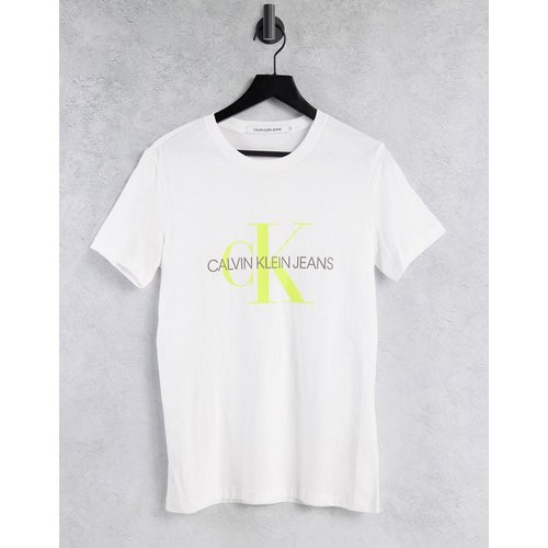 T-shirt avec monogramme contrasté - Calvin Klein Jeans - Modalova