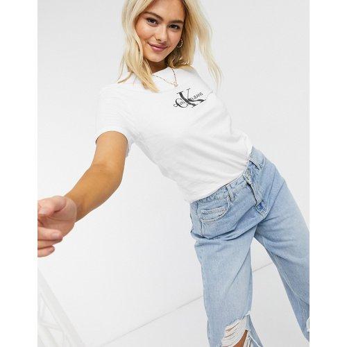 T-shirt manches courtes avec logo sur le devant - Calvin Klein Jeans - Modalova