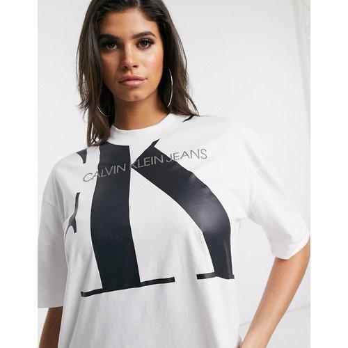 T-shirt oversize à très grand logo - Calvin Klein Jeans - Modalova