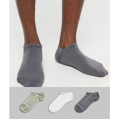 Lot de 3 paires de chaussettes sport à logo - Calvin Klein - Modalova