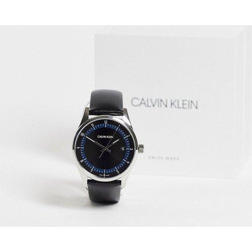 Montre-bracelet à cadran et bracelet en cuir - Calvin Klein - Modalova