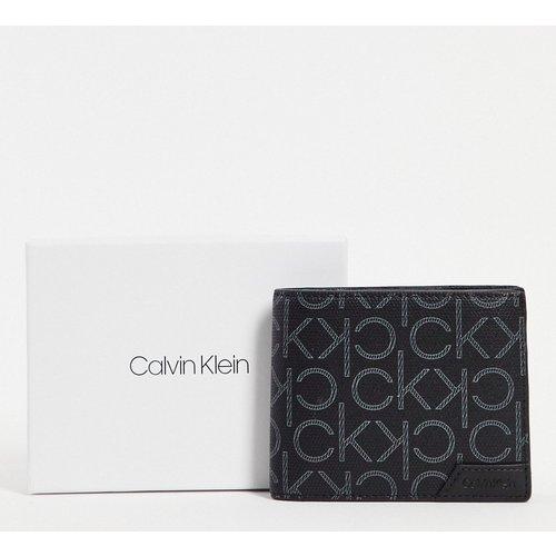 Portefeuille à deux volets à imprimé monogramme - Calvin Klein - Modalova