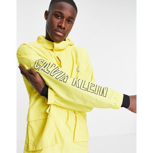 Sport - Veste tissée à capuche - Calvin Klein - Modalova