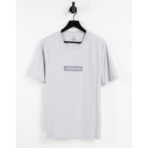 T-shirt à logo encadré réfléchissant - ancien - Calvin Klein - Modalova