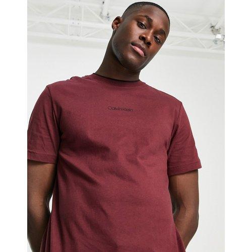 T-shirt avec logo centré - Bordeaux - Calvin Klein - Modalova
