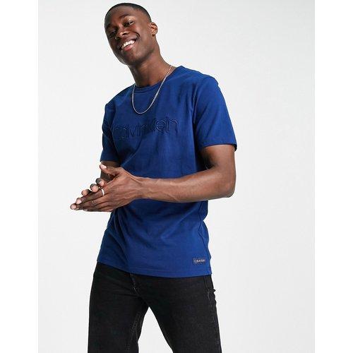T-shirt ras de cou - Bleu - Calvin Klein - Modalova