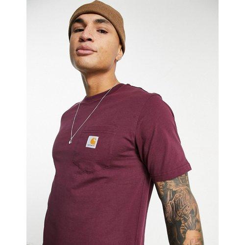 T-shirt à poche - Bordeaux - Carhartt WIP - Modalova