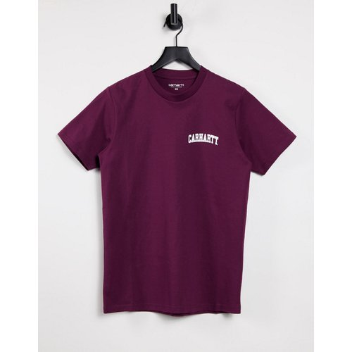 T-shirt avec logo style universitaire - Bordeaux - Carhartt WIP - Modalova
